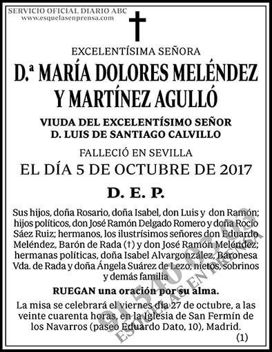 María Dolores Meléndez y Martínez Agulló